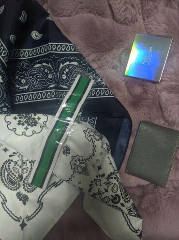Шифер кант - Кыргызстан: Банданы и повязка на головуБандана (белая и тёмно-синяя) размер 55 ×