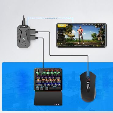Другие аксессуары для мобильных телефонов - Бишкек: Usb мобильный геймпад контроллер конвертер клавиатуры переходник для