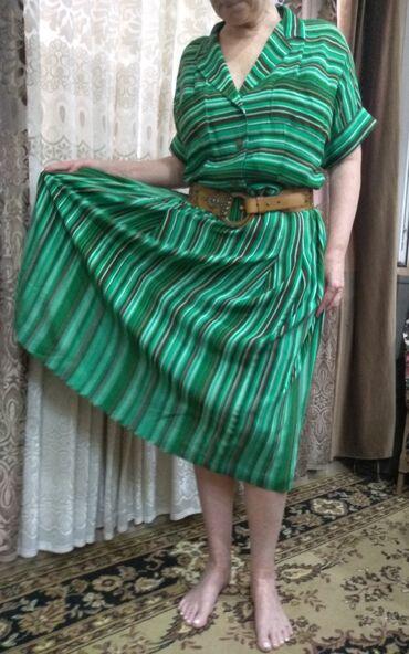 Винтажное платье,новое, натуральный шелк (крепдышин советских времён)