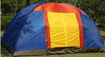 10ти местная палатка. Ткань непромокаемая с москитной сеткой