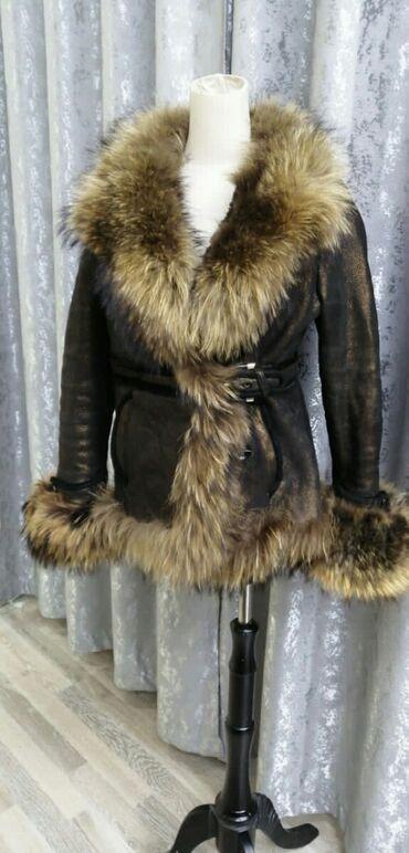женская платье 42 44 размер в Кыргызстан: Дубленка натуралка турецкая. Размер 42- 44. Брали за 600 долларов