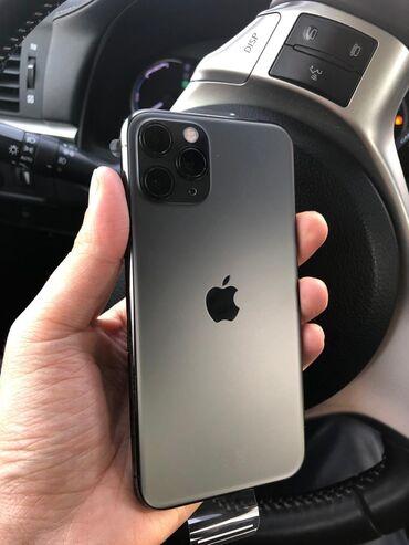 продам iphone 11 pro в Кыргызстан: Б/У IPhone 11 Pro 64 ГБ Черный