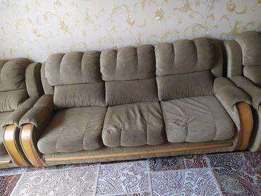 50 объявлений: Продам 4*1 диван+ 2 кресло средний диван