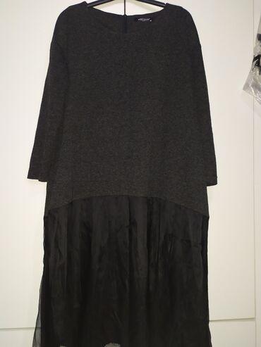 Платье трикотажное тёплое повседневная производства Турция в идеальном