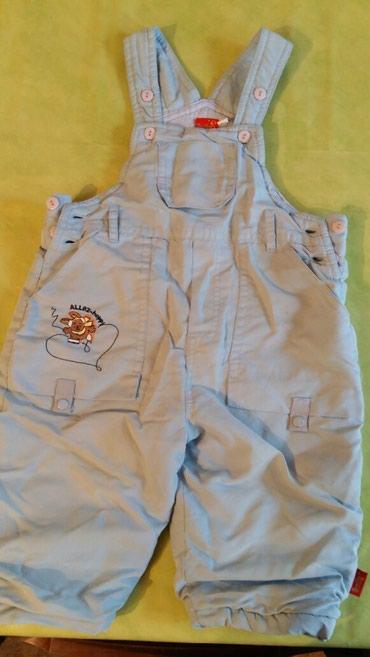 Farmerke na tregere - Srbija: Pantalone na tregere za bebe vel.80 jako tople i prijatne