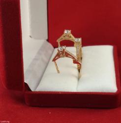 Кольцо из красного золота 585 проба размер кольца 17.5 в Бишкек