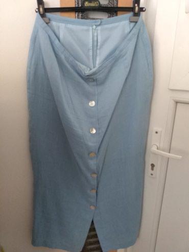 Ženska odeća   Prijepolje: Lanena suknja. Negde oko 44 vel. Duga. Nezno plava