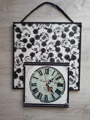 Drveni zidni sat dimenzija 33x42 cm. Sat je nov sa besumnim - Vrsac