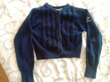 Dečija odeća i obuća - Nova Pazova: Teget bolero, velicina 7-8, realno 6