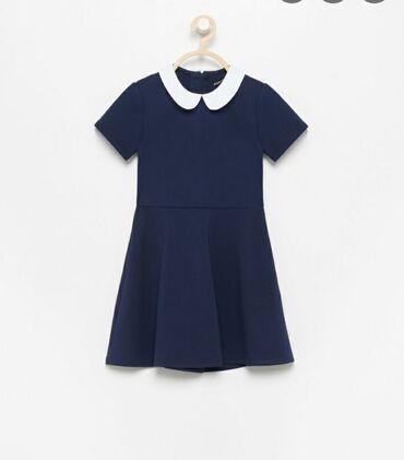 Haljine | Vrsac: Teget haljinica za devojcice Jednom nosena Reserved 122 velicina 500 d