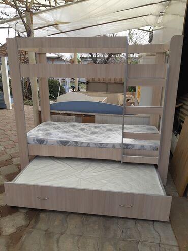 длинное платье с разрезом в Кыргызстан: Кровать двухярусная с доп местомПродаю НОВУЮ детскую двухярусную
