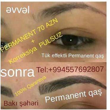 Bakı şəhərində PERMANENT 70 AZN + Korreksiya PULSUZ