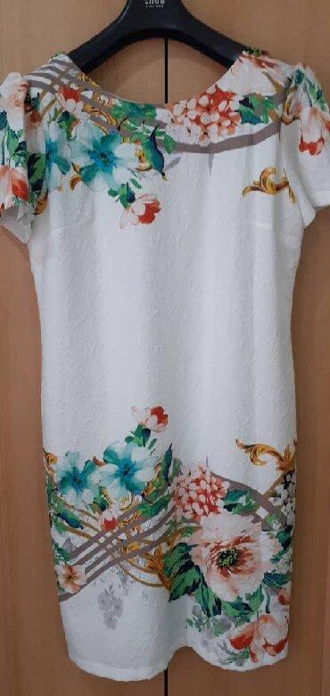 белое летнее платье в Кыргызстан: Платье летняя. Турция. Размер 46. Цена 1500