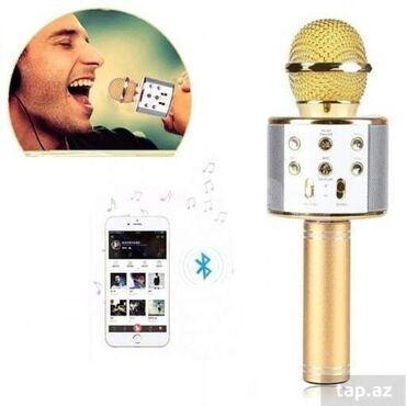 микрофон наушник в Азербайджан: Karaoke Mikrofonu 14azn, 16azn, 20azn, 22azn