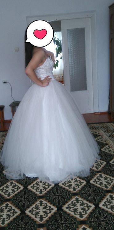 платье из кружева в пол в Кыргызстан: Срочно продам свадебное платье из Польши не дорогоодевала один раз