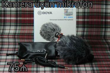 Mikrofonlar - Azərbaycan: Yenidir. Kameraya da, telefona da taxmaq olur.Çeşidli və orginal