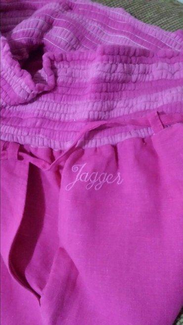 Jagger dečje pantalone, nove, lan, mogu da se nose kao duge i kao 3/4 - Velika Plana