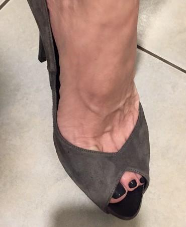 Zara suede ανθρακί peep toes . Καινούργια . σε Υπόλοιπο Αττικής - εικόνες 6