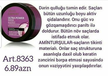 Şəxsi əşyalar - Masazır: Expert seriyasinnan 250 ml-sampun,200 ml-balzam,200 ml-maska,90