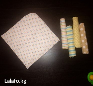 😇Детская одежда😇 супер мягкие фланелевые пеленки размер 1 ×1 в Бишкек