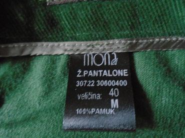 Pantalone od finog somota brenda Mona, divne zelene boje, veličine  - Beograd