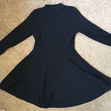 теплое платье батал в Кыргызстан: Приталенное черное теплое платье
