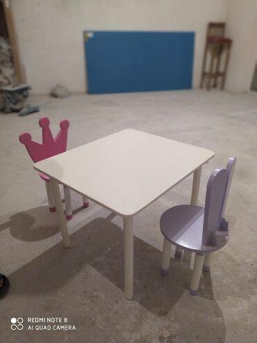 Uwaq otagi ucun masa ve oturacaq hazirdi satilir