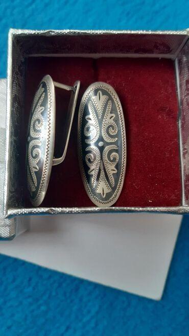 веб камера с микрофоном цена в Кыргызстан: Серьги серебряные с этническим узором очень удобные носили пару раз це