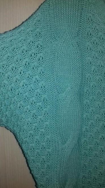 Πλεκτή μπλούζα, One Size, χρώμα : βεραμάν, αφόρετη  (κωδ. 121) σε Καματερó - εικόνες 2