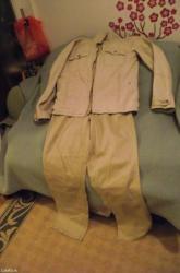 Jakna i farmerke od keper platna u drap boji  jakna l pantalone 52 - Nis