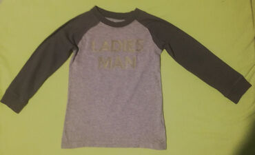 Dečija odeća i obuća - Cacak: Carter's siva bodi majica veličine 3t, dužina 42cm, dužina unutrašnje