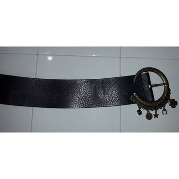 Ζώνη Class Roberto Cavalli μαύρη - Δερμάτινη Μήκος 1 μέτρο Πλάτος 6,5