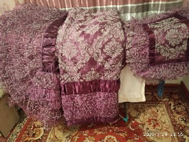 шейшеп в Кыргызстан: Продаю комплект новый. Покрывало,одеяло и наволочки. Цвет фиолетовый
