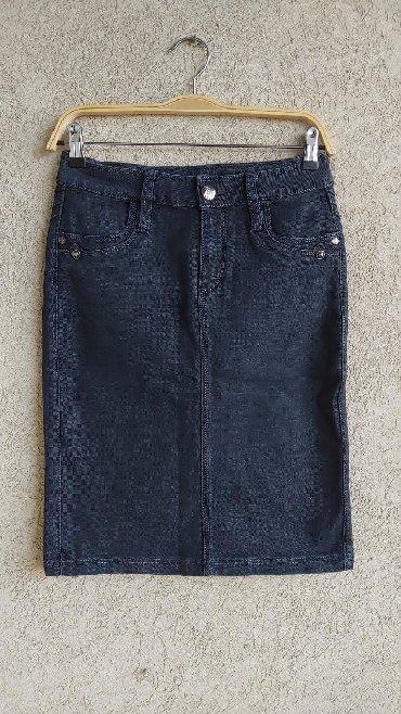 Duzina struk suknja - Srbija: Teksas suknja,kao nova  Vel. 28 Duzina 56cm Struk 36cm