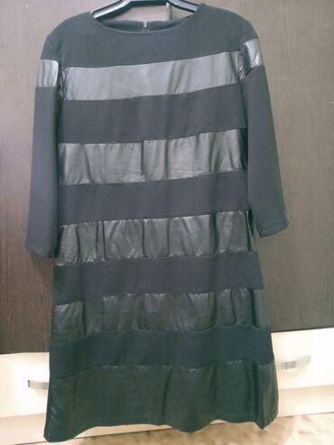 вечернее платье до колен в Кыргызстан: Черное платье до коленСостояние хорошее отличноеРазмер 44Цена 300 сом