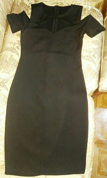 Чёрное коктейльное платье, стройнит в Бишкек