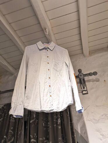 Προσωπικά αντικείμενα - Αθήνα: Πουκάμισο με γιακά Ριγέ σε γαλάζιο και άσπρο. Είναι βαμβακερό 100% και