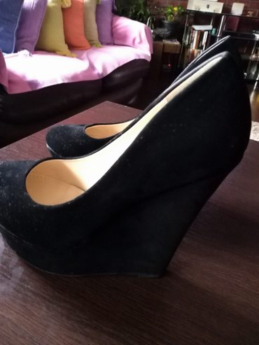 Ženske cipele od velura kao nove jednom obuvene. Veličina 38. - Ruma