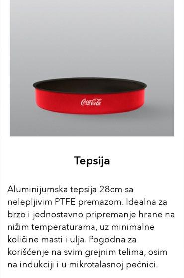 Zenske pamtalone kontakt preko vibera - Srbija: Coca Cola Koka Kola Metalac tepsija 28cm NOVONovo nekorišćeno. Za sva