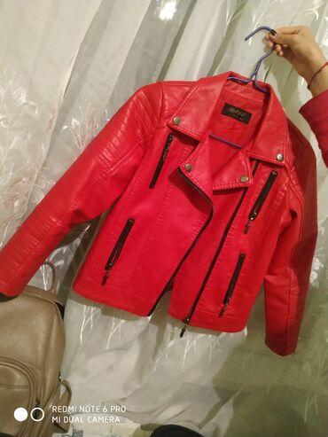 Кожаная куртка подростковая 10-12 лет