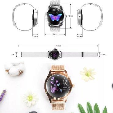 gold часы в Кыргызстан: Женские умные-часы, Mavens fit KW10 Plus gold edition с металлическим