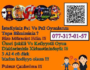 Video oyunlar və konsollar Azərbaycanda: 3 Oyun Alana 4Cü Disk Pulsuz !!!Pulsuz Çatdırılma !!!Oyunların Hər