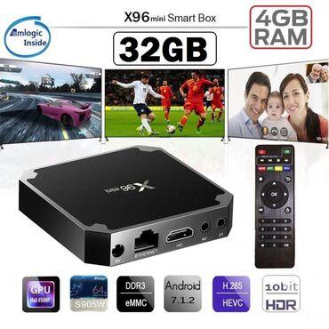 Smart Box X96 Mini 4GB/32GB - 99 AZNBütün növ televizorlara qoşulması