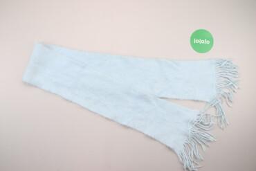 Аксессуары - Украина: Жіночий теплий шарф з бахромою    Колір: блакитний Довжина: 144 см Шир
