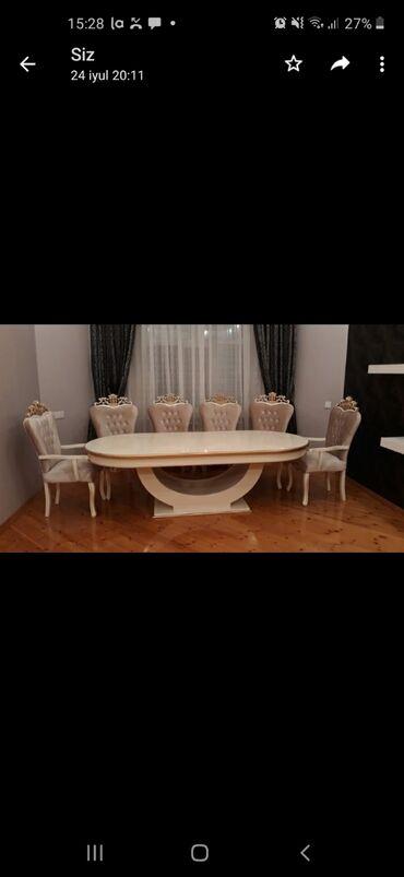 14 başlayan lanos - Azərbaycan: Musteri evinden mohtesem stol stul desti. stol ve 10 stul.stol acilmir