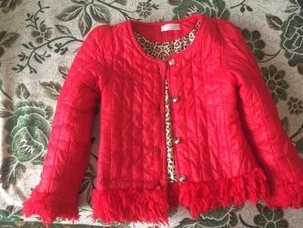 Деми куртка, для девочек 6-8 лет. Состояние отличное. в Бишкек