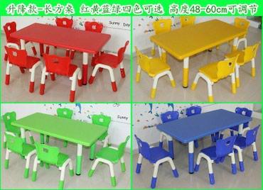 Детские пластиковые столы и стулья в Бишкек