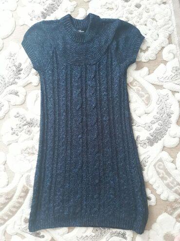 semejnoe postelnoe bele s dvumja в Кыргызстан: Продаю новое вязанное платье - тунику из Америки. Цвет темно синий