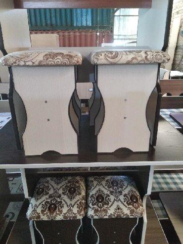 кухонный стол стулья в Кыргызстан: Стол со стульями для кухни от Эталон Стиля  БЕСПЛАТНАЯ ДОСТАВКА ПО ГОР