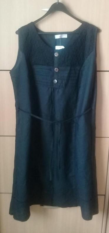 Haljine - Sombor: Nova lanena crna haljina, vel XXL